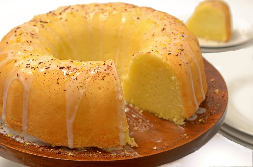 Lemon Soda Cake on Platter Talk