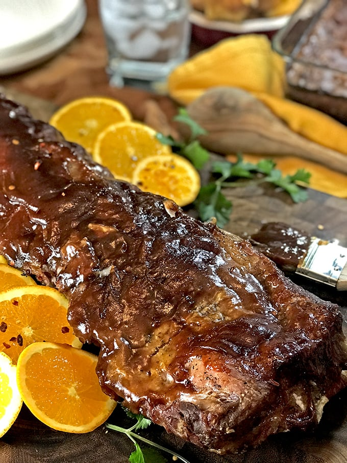 Instant Pot Ribs are a great addition to pressure cooker mac n cheese.