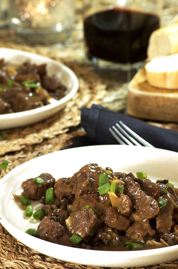 Serving of Instant Pot Beef Stew