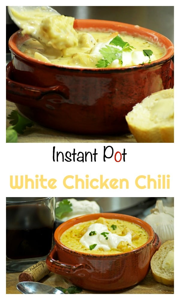 This Instant Pot Chili Recipe for White Chicken Chili makes for a lively and flavorful meal. Using tones of cumin and salsa verde this dinner is cooked in a base of cream, broth, and fresh ginger.