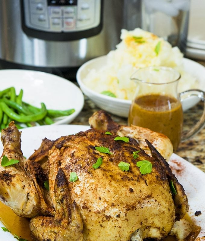 Whole Chicken Pressure Cooker Recipe for the Instant Pot Feat